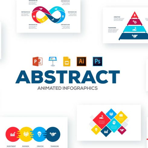 Animated Presentations: 50 Abstract Animated Infographics - 600 5 490x490