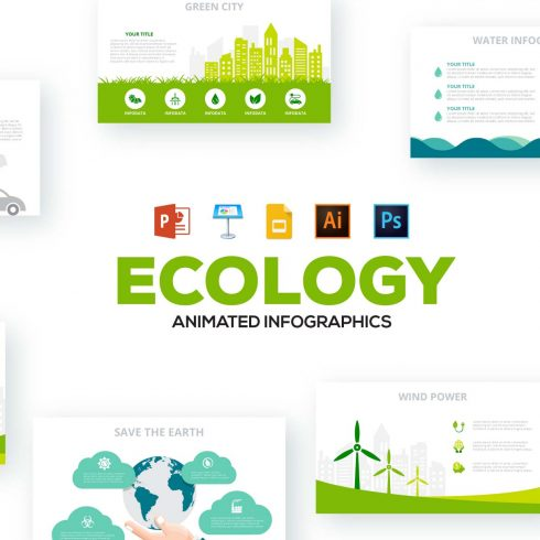 130 Animated Maps 2021: Map Infographics & Powerpoint Elements AI, PSD, EPS, PNG, XML, KEY, PDF - 606 490x490