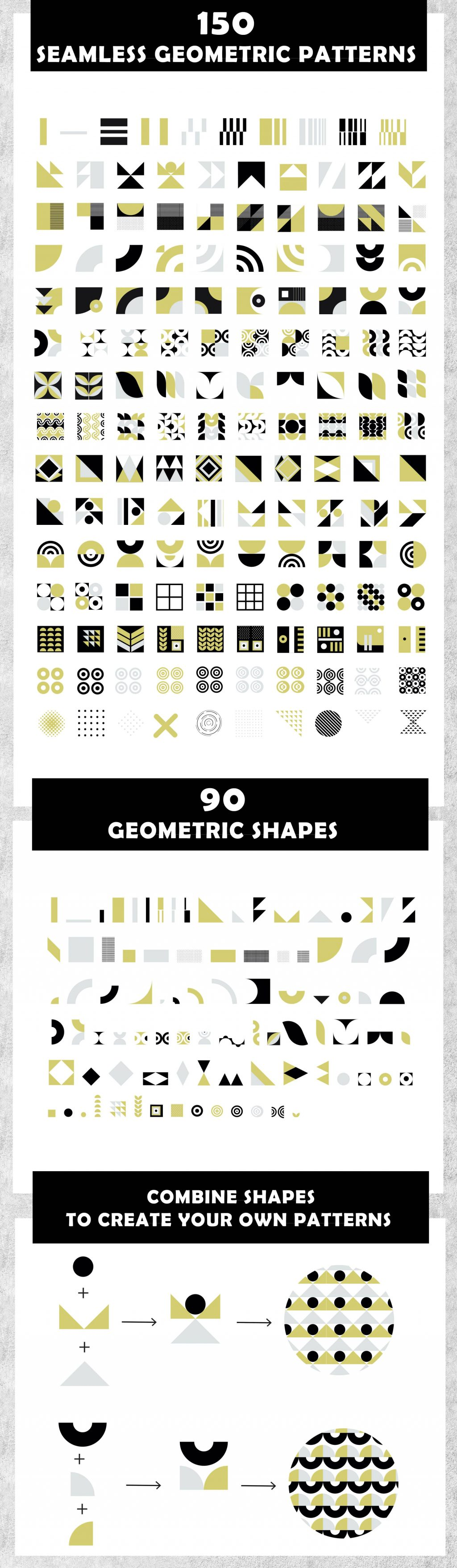 240+ Eye-catching Seamless Geometric Backgrounds, Shapes & Patterns - P 2 min