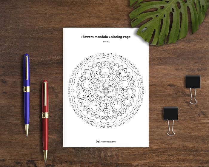 Mandala Coloring Book: 30 Printable Coloring Pages - PFNPUF12