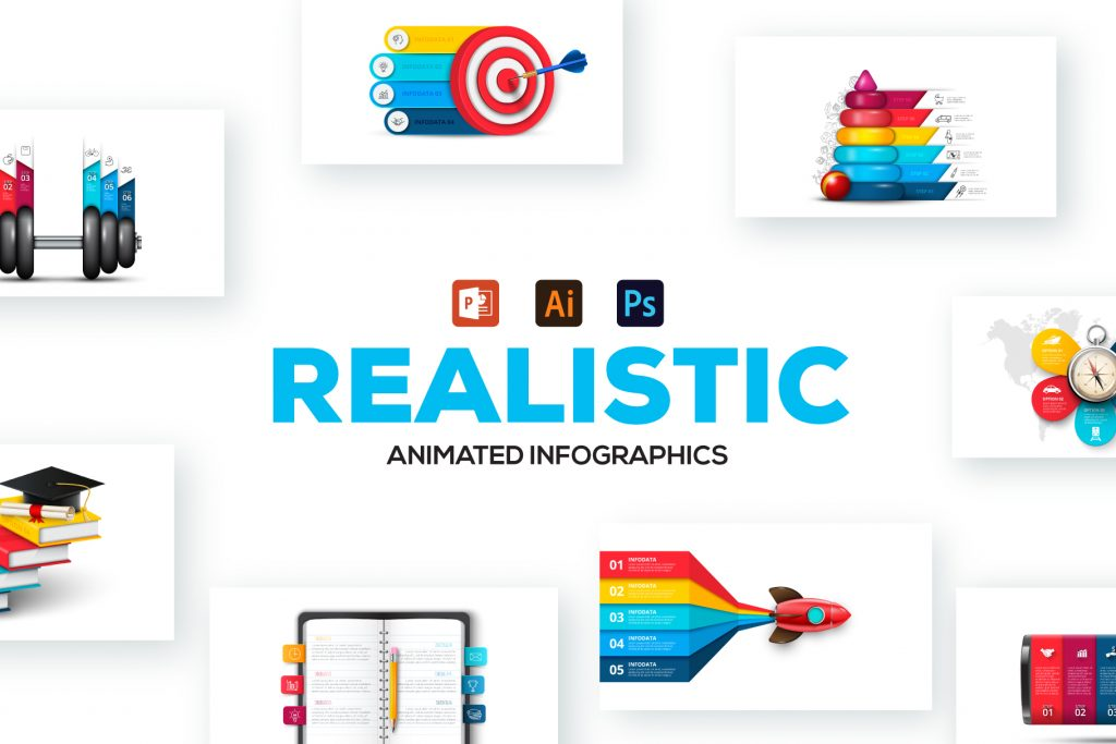 2600 Massive Animated Powerpoint Bundle - Realistic powerpoint infographic