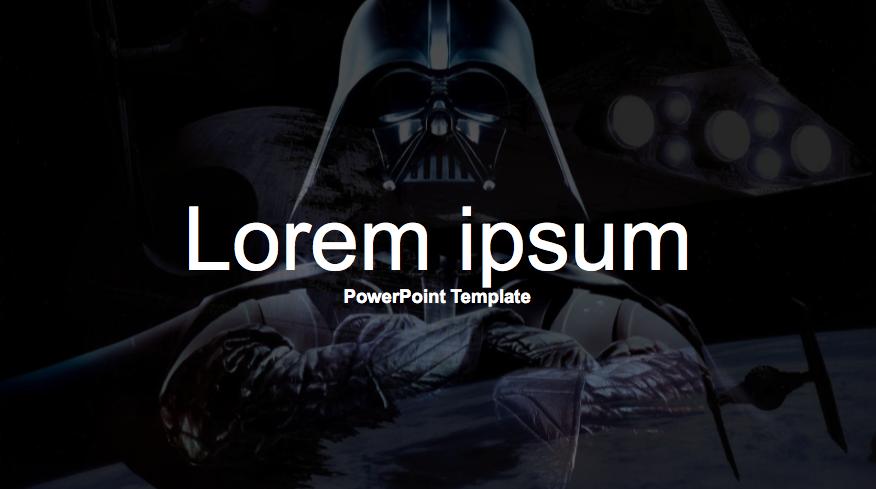 Free Star Wars Google Slides Theme