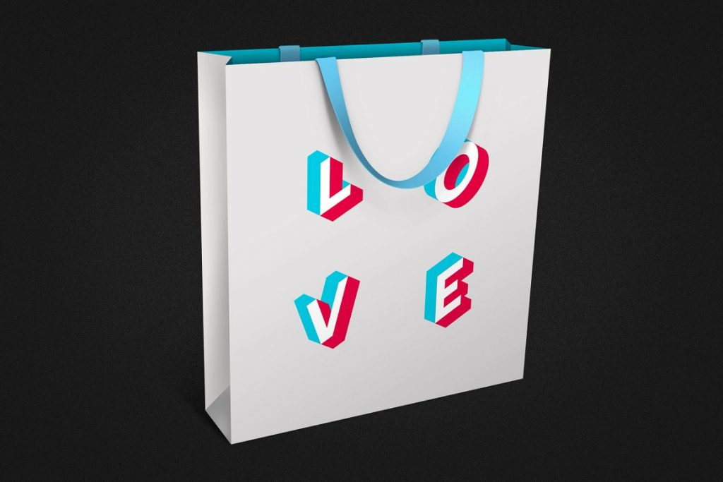 Isometric Font: Anaglyph SVG Color Font - anaglyph isometric color svg font view3