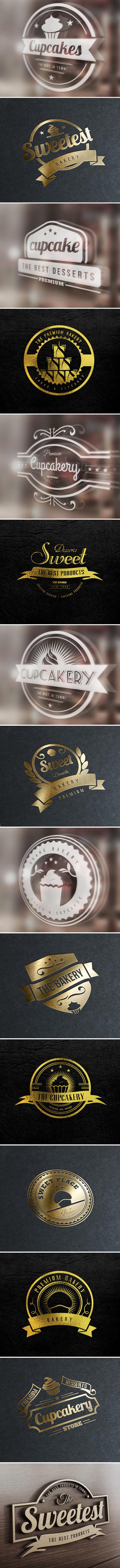 15 Vintage Bakery Logos: Cupcakes & Cakes Logos - c30adc16291015.562a8f514831d 2
