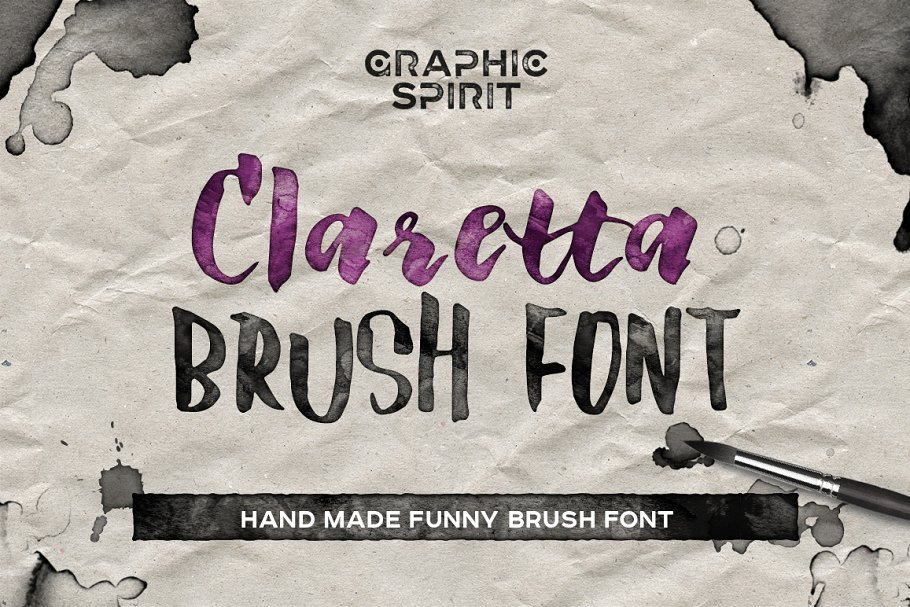 20 Best Psychedelic Fonts for Printing, Websites, Logos and Applications - claretta brush font