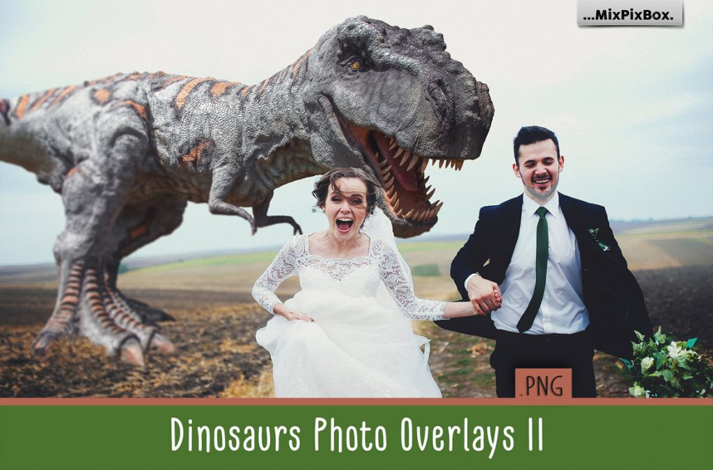 Dinosaur Overlay Bundle: 34 PNG Photo Overlays 🐍 - dino v2 overlays first image