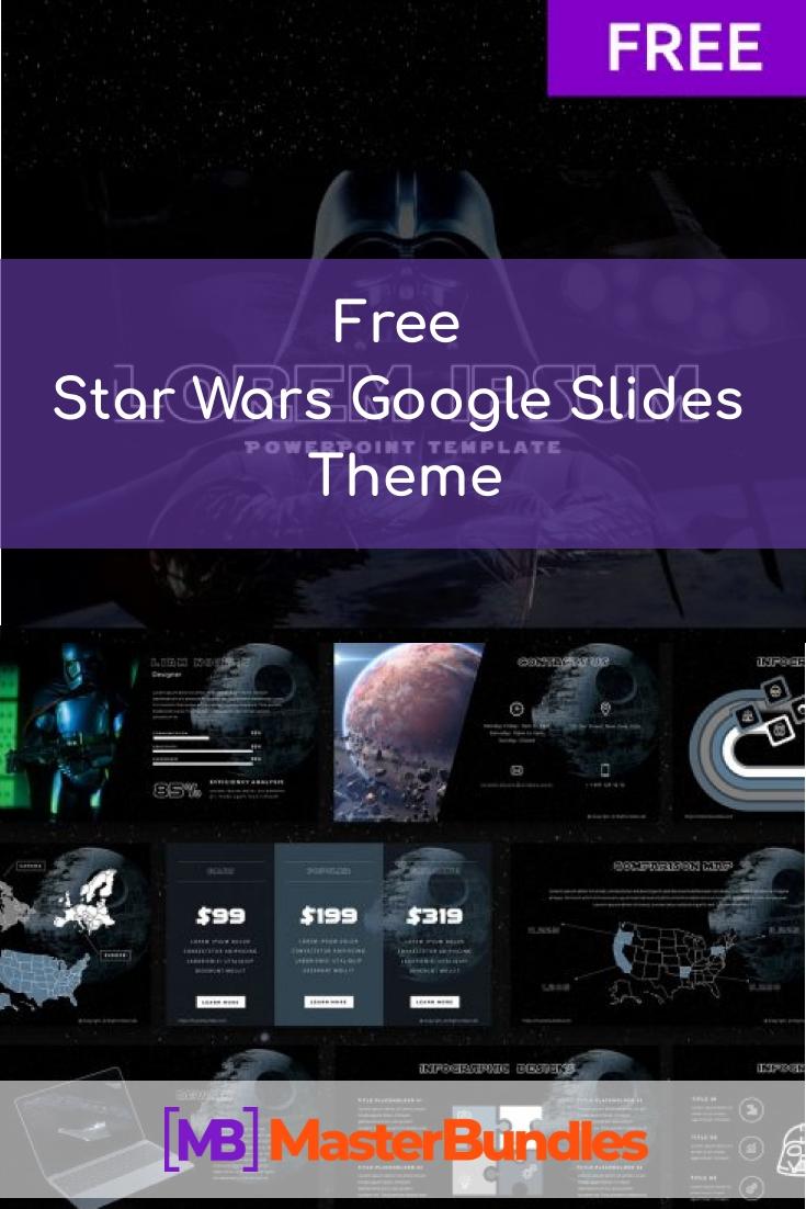 Free Star Wars Google Slides Theme 2020. Pinterest.
