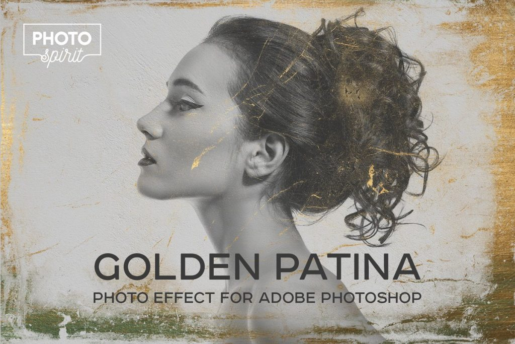 Golden Patina Photo Effect for Photoshop - golden patina photo effect for adobe photoshop