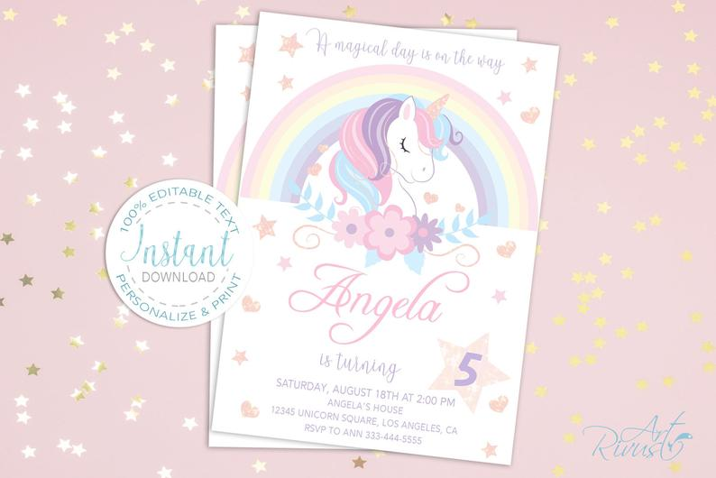 Unicorn Clipart PNG 2020: Cute Magic Birthday Party Graphic - il 794xN.2130039658 tksb