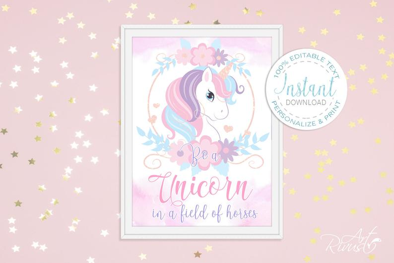 Unicorn Clipart PNG 2020: Cute Magic Birthday Party Graphic - il 794xN.2130039660 gggd