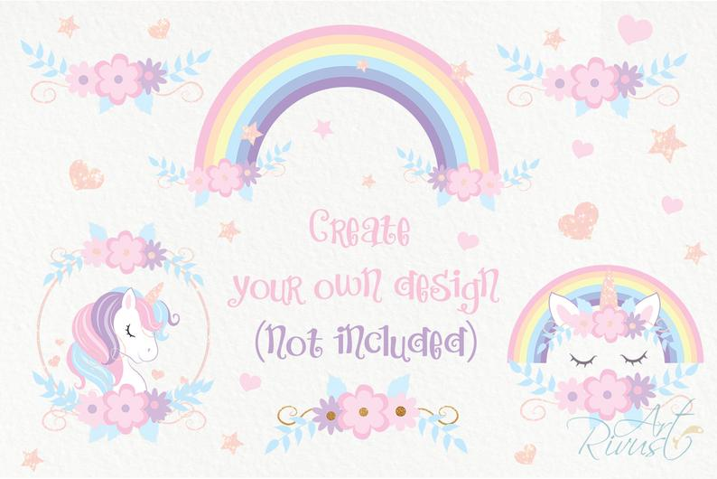 Unicorn Clipart PNG 2020: Cute Magic Birthday Party Graphic - il 794xN.2177580093 lh6l