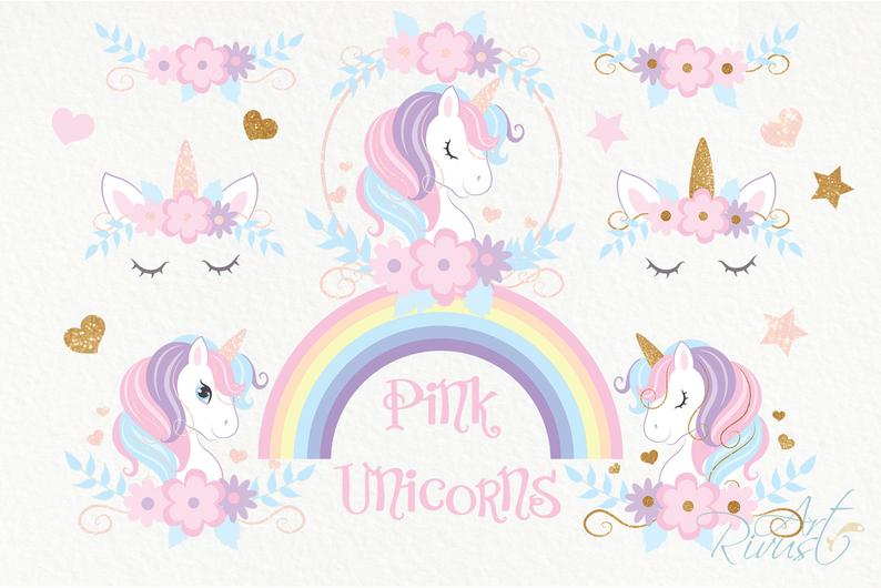 Unicorn Clipart PNG 2020: Cute Magic Birthday Party Graphic - il 794xN.2177580097 lucv