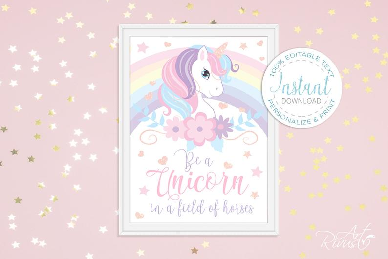 Unicorn Clipart PNG 2020: Cute Magic Birthday Party Graphic - il 794xN.2177598173 acr0