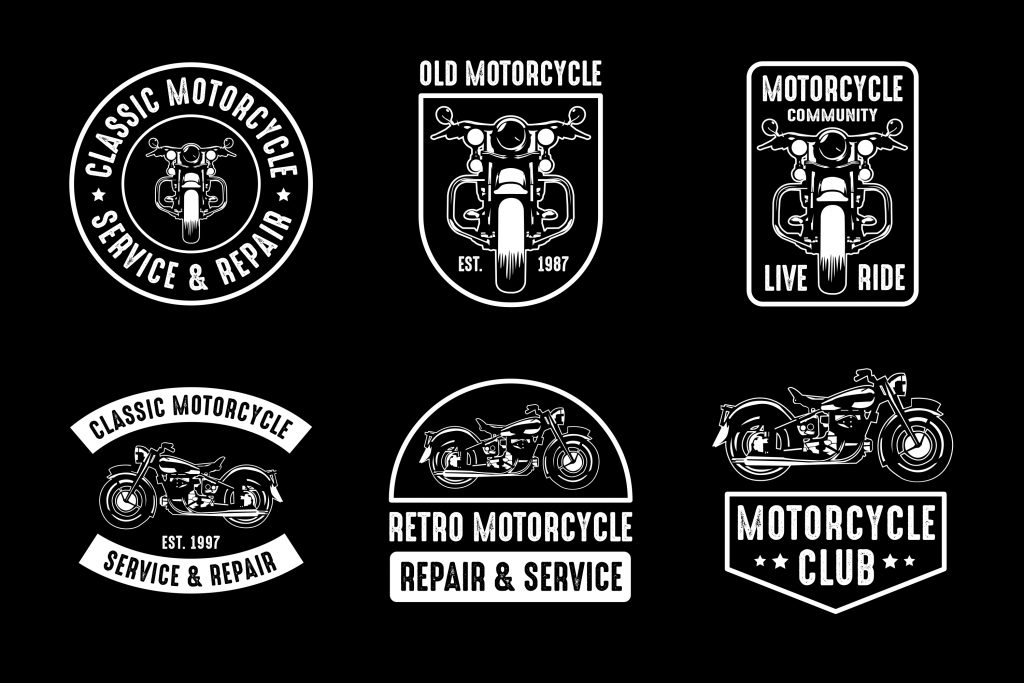Vintage Motorcycle Logos & Badges 2020 - motorcycle set