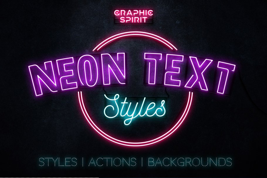 Neon Blue Text Unturned Layer Styles - neon text layer style pack 0