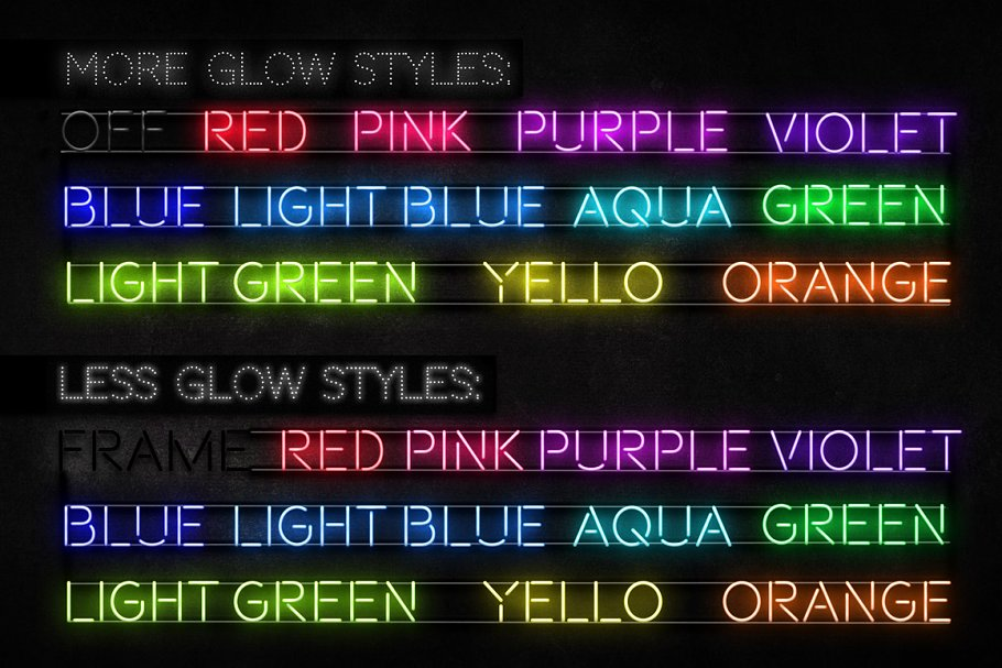Neon Blue Text Unturned Layer Styles - neon text layer style pack 4