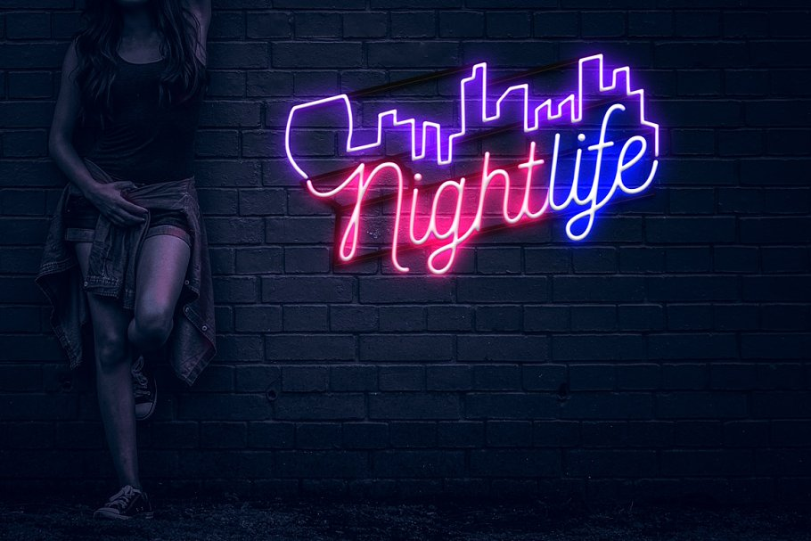 Neon Blue Text Unturned Layer Styles - neon text layer style pack 5 2