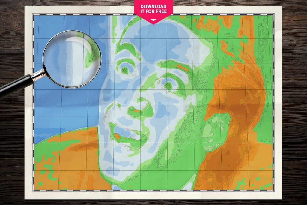 Photoshop Map Brushes & Temlates: IMAGE TO PHYSICAL MAP Converter 2020 - nicolas cage you dont say map