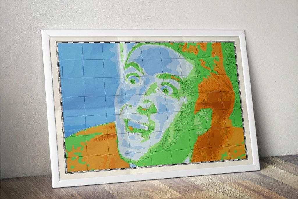 Photoshop Map Brushes & Temlates: IMAGE TO PHYSICAL MAP Converter 2020 - nicolas cage you dont say map wall art poster view7