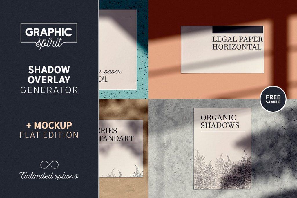 Shadow Overlay GENERATOR + Mockups - organic shadow overlay generator 0