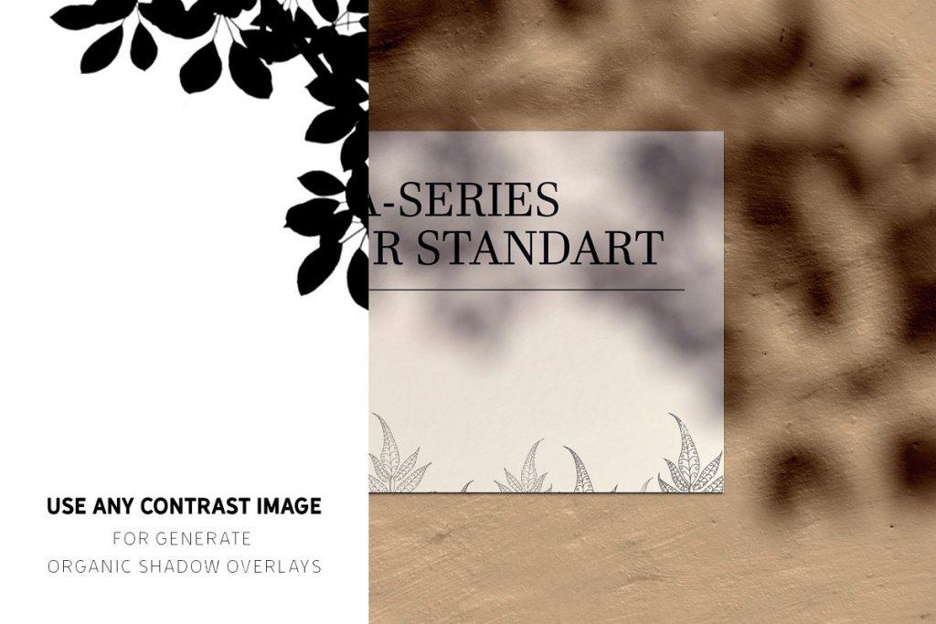 Shadow Overlay GENERATOR + Mockups - organic shadow overlay generator 1