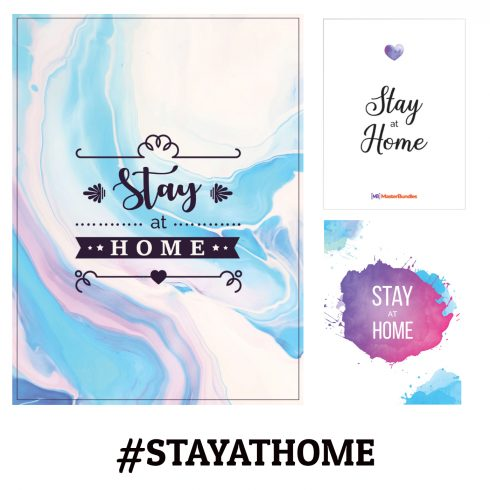 "5 Free ""Stay at Home"" Postcards Bundle - stay at home postcards bundles 490x490"