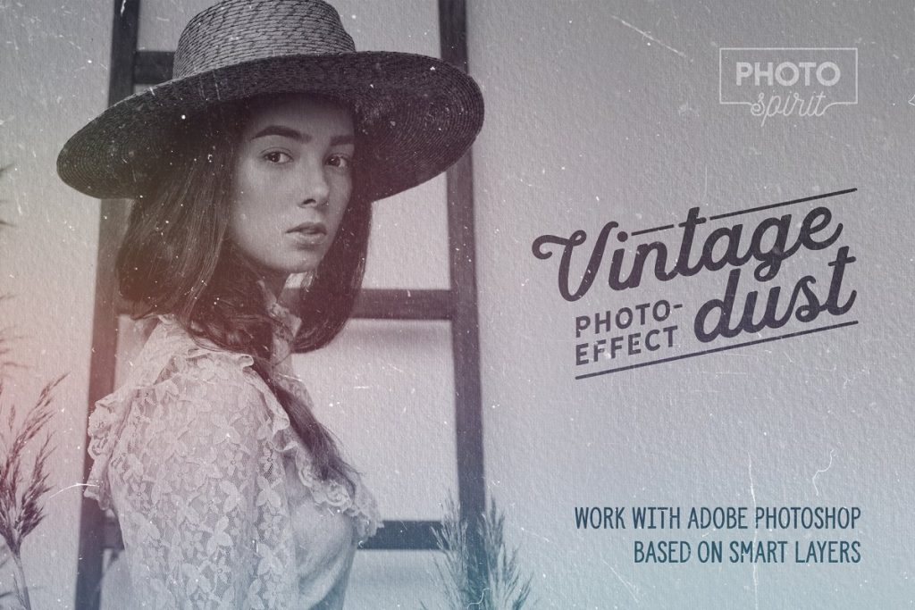 Dust And Scratches Film Effect Photoshop Addons - vintage dust photo effect 1