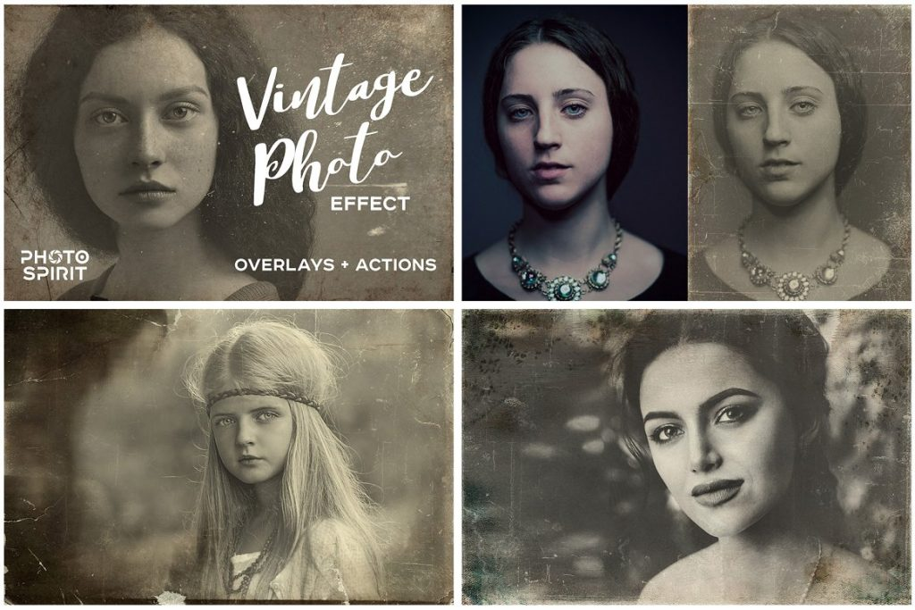 Vintage Photo Effects: 8-IN-1 BUNDLE - vintage old photo effect