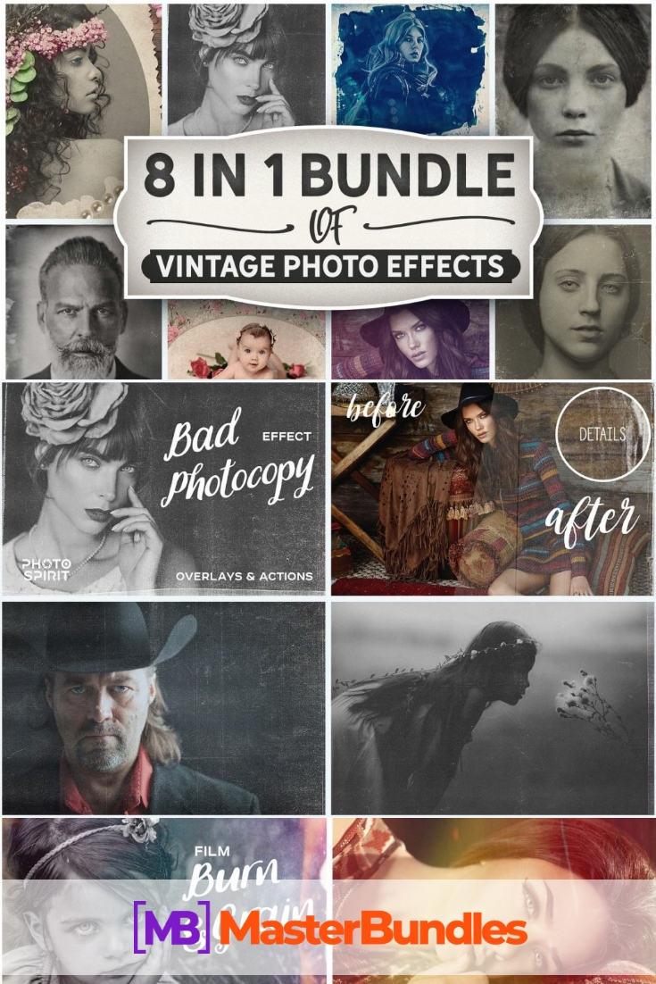Vintage Photo Effects Bundle. Pinterest.