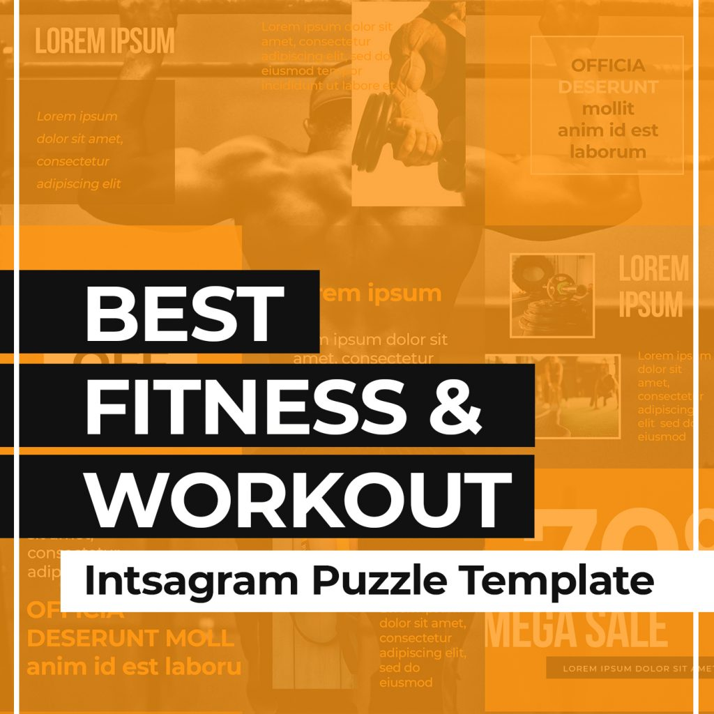 Sport & Fitness Instagram Puzzle Template