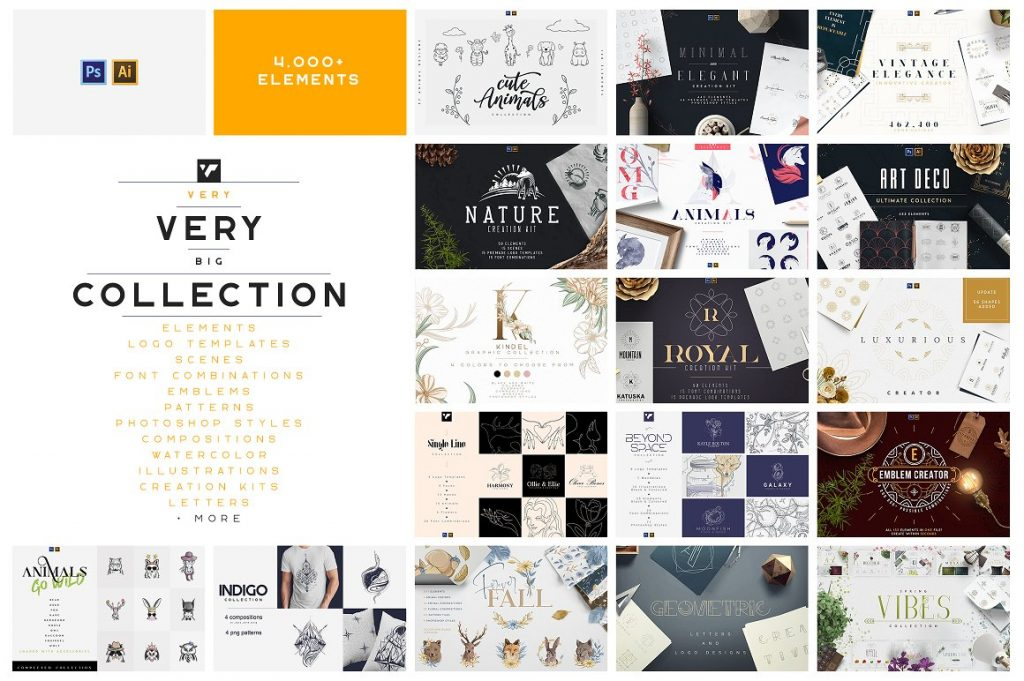 BIG Graphic Collection: 22 in 1 with 4,000+ elements - 1