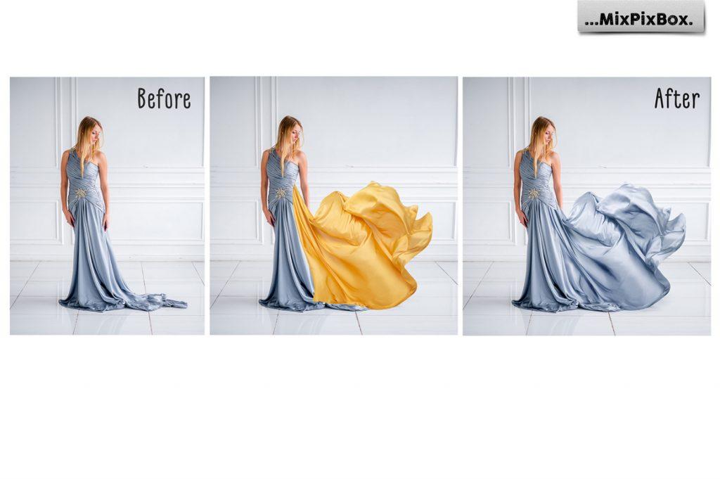 44 Gold Satin Photo Overlays - 1 4