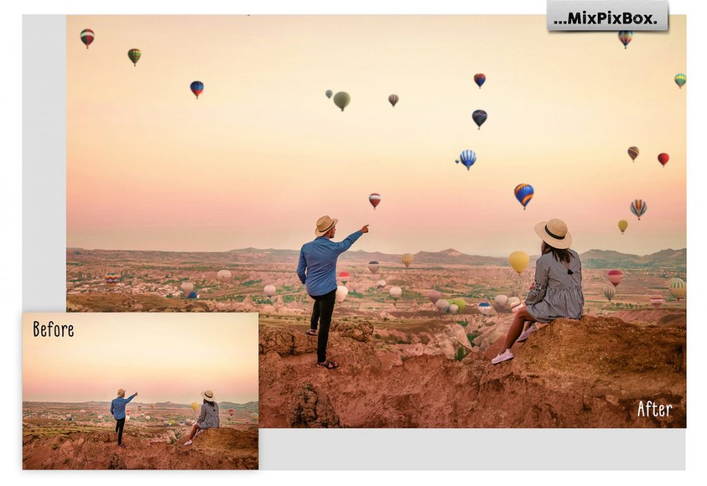 30 Hot Air Balloon PNG Photoshop Overlays & Add-Ons - 1 5