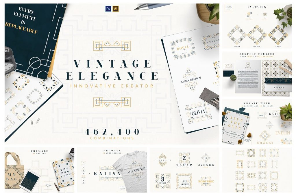 BIG Graphic Collection: 22 in 1 with 4,000+ elements - 10b