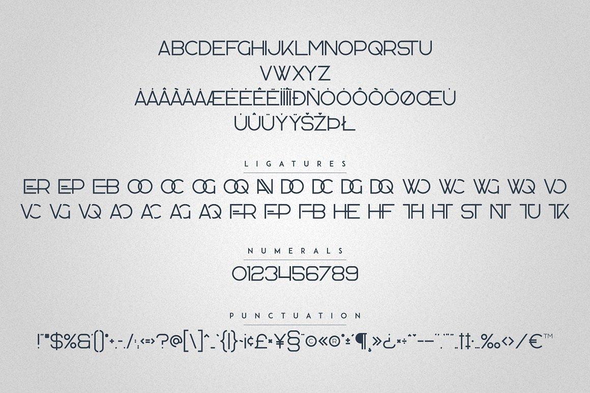Kavo Family - 17 Modern Regular Fonts + 24 logos - 19