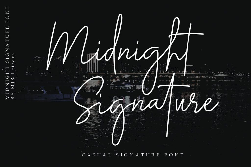 Midnight Signature Collection Font - 1d