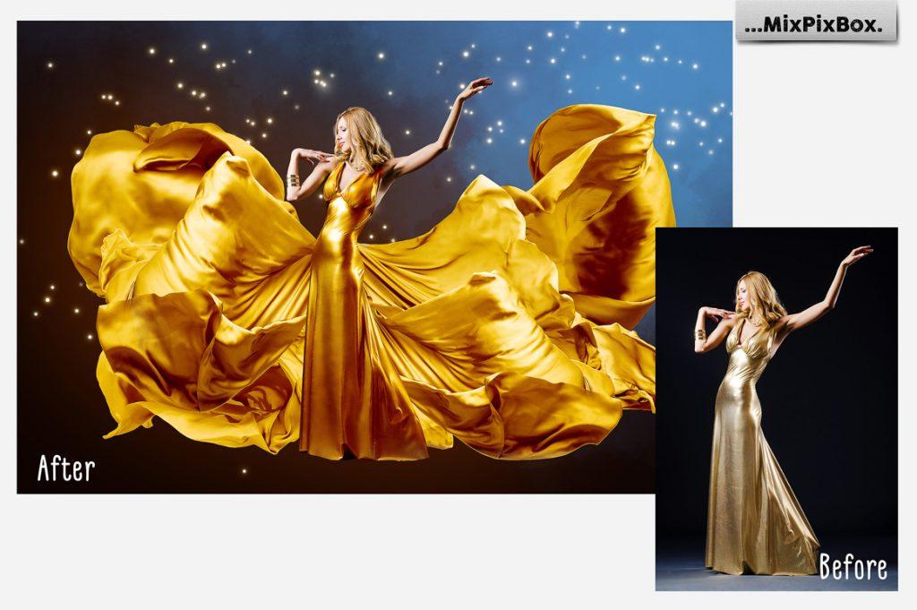 44 Gold Satin Photo Overlays - 2 4