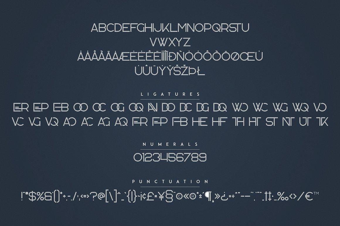 Kavo Family - 17 Modern Regular Fonts + 24 logos - 20