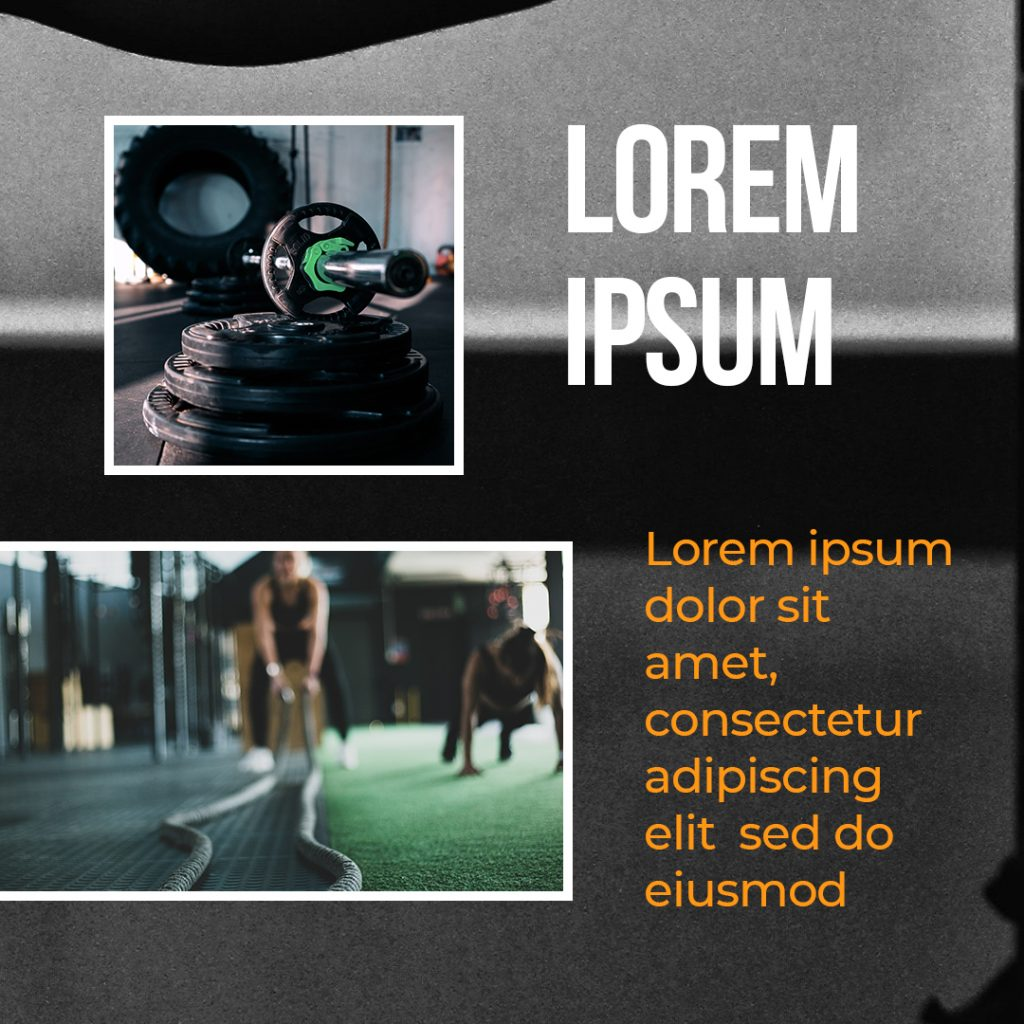 Sport & Fitness Instagram Puzzle Template - 6 1