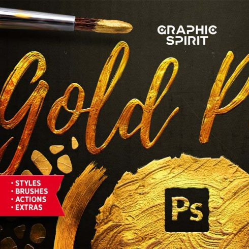 TOOLKIT Gold Paint Effect Photoshop - 600 3 490x490