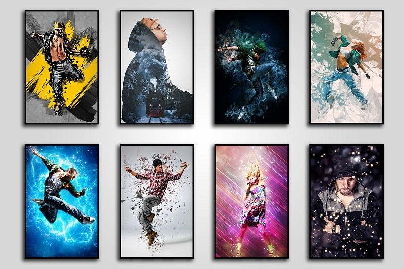 15 Wall Art Photoshop Actions Bundle.