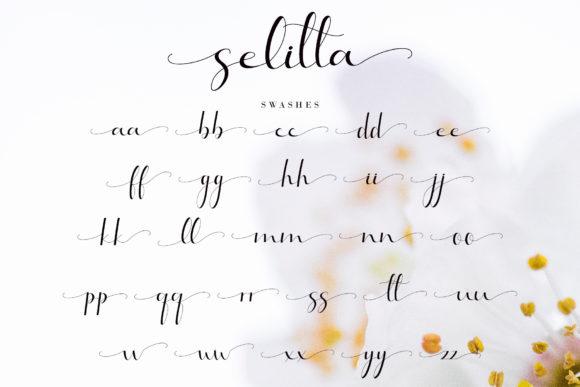 Selitta Skinny Handwritten Font - Selitta Fonts 3778184 11 580x387