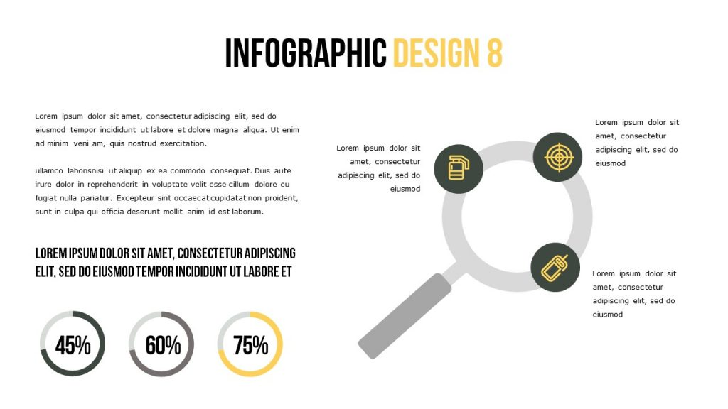 Infographic slide where most of it is used for text.