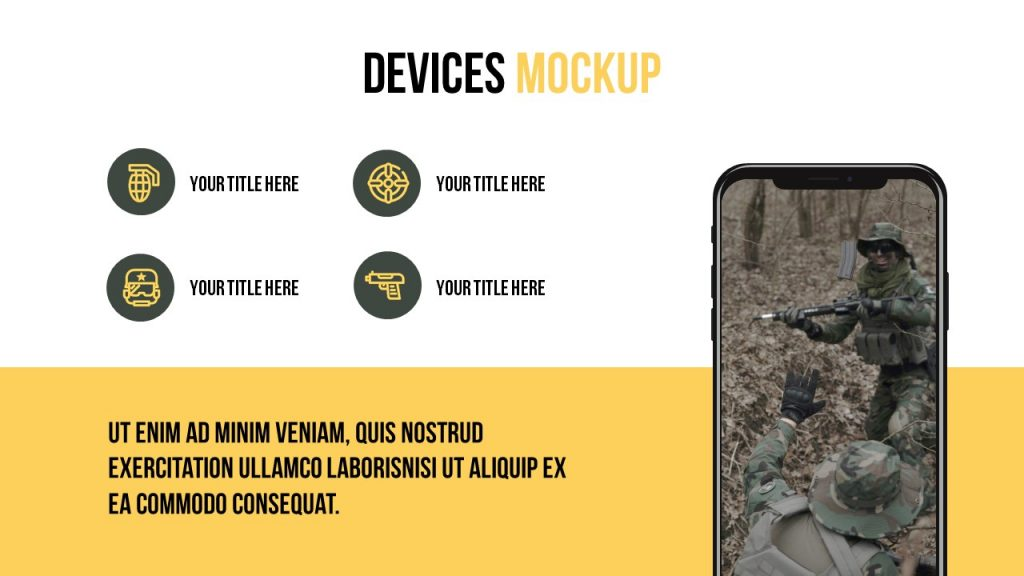 Devices mockup where the main emphasis is on text.