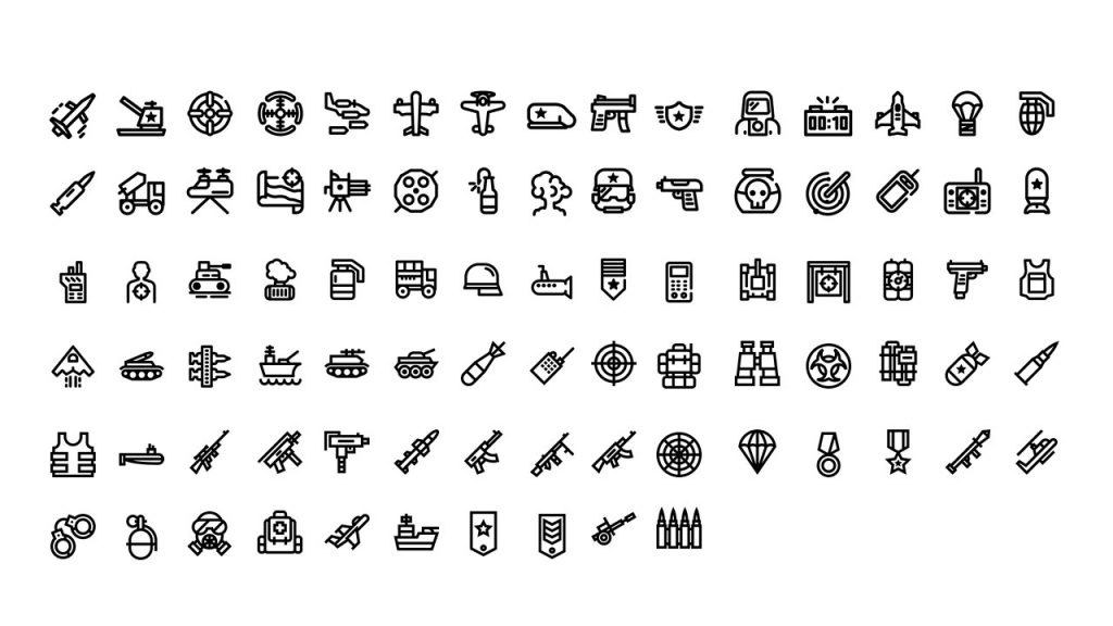 Slide icons that can be used to mark text blocks, charts, graphs.