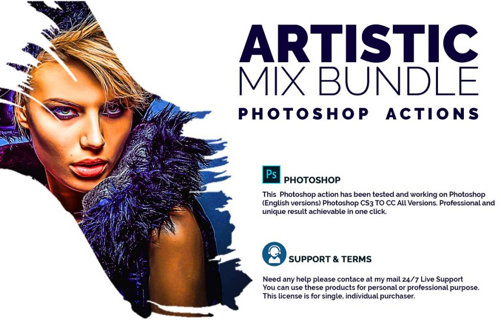Artistic Mix Bundle Photoshop Action - cover image 1 1