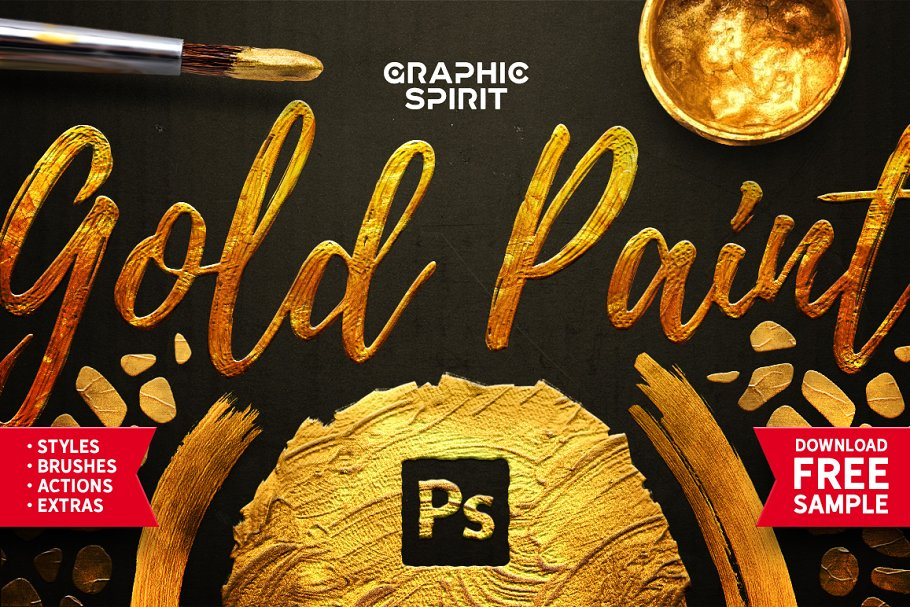 TOOLKIT Gold Paint Effect Photoshop - gold paint photoshop effect