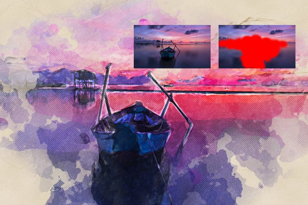 7 in 1 Watercolor Photoshop Action Bundle - preview 3 3