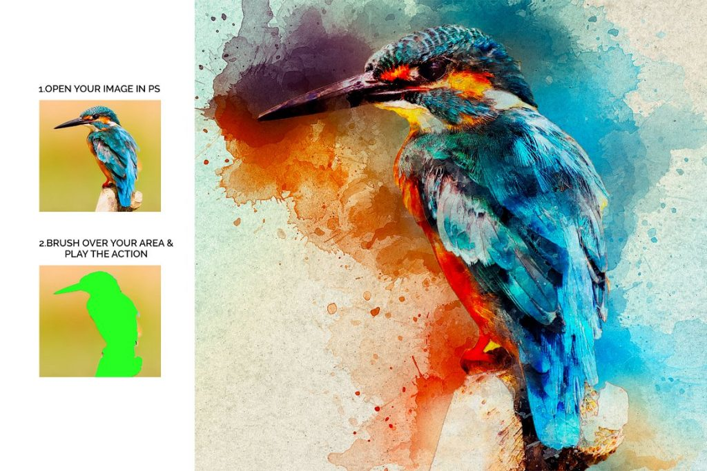 7 in 1 Watercolor Photoshop Action Bundle - preview 4 1 1