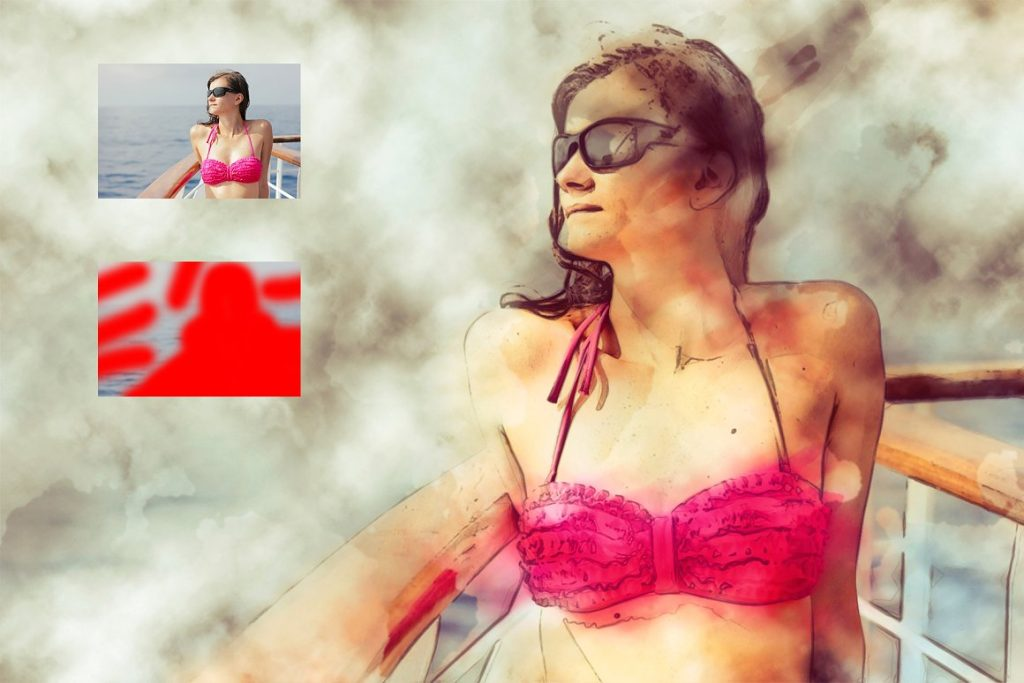 7 in 1 Watercolor Photoshop Action Bundle - preview 4 2